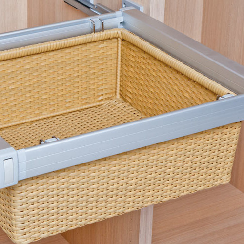 Cestos para armarios mimbre PVC